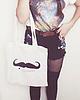 Moustache tote bag 90 small
