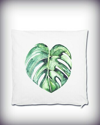 Pillow with palm leave