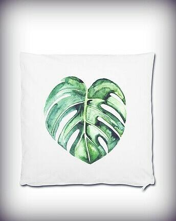 Kissen mit Palmenblatt
