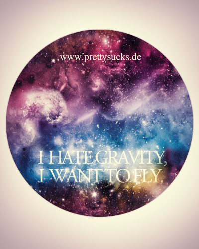 I Hate Gravity Sticker