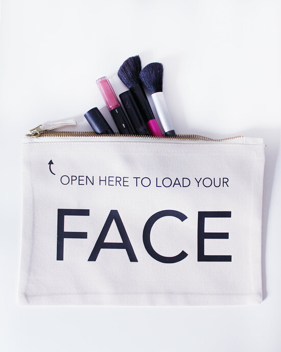 Load your Face Make up bag - 20 x 28 cm