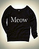 Meow sweatshirt 6333 small