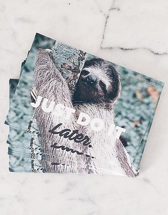 Faultier Postkarte