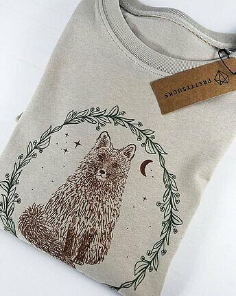 Fox wreath t-shirt