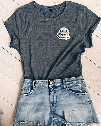 Happy Camper patch t-shirt