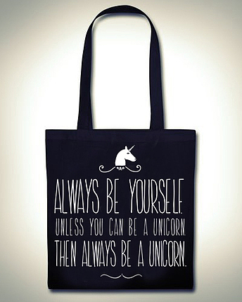 Always be a Unicorn Beutel