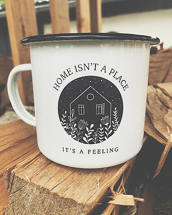 Customizable enamel mug