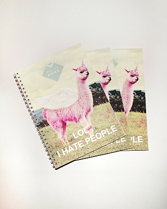 Lamacorn notepad
