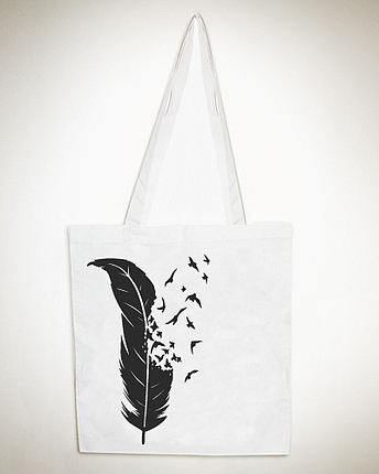 Feather & Birds Tote Bag