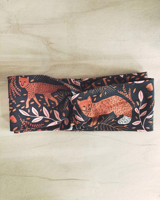 Knoten-Haarband mit Fuchs