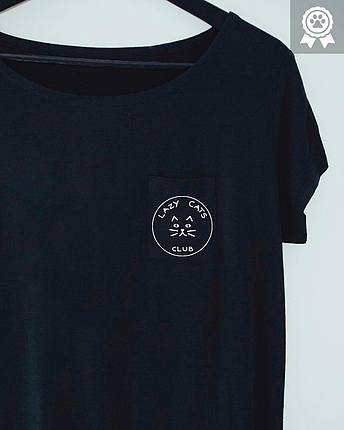 Lazy Cat Club Pocket Shirt