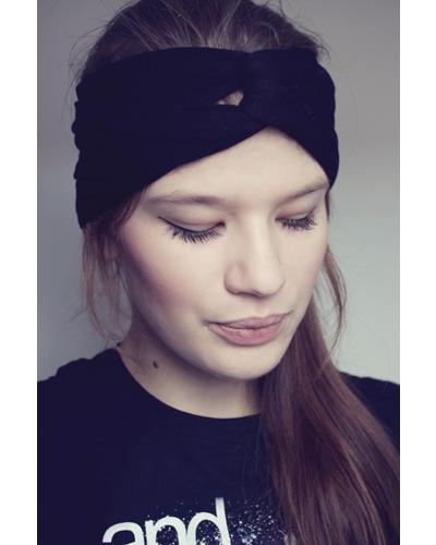 Turban Haarband schwarz