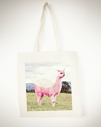 Lamacorn totebag