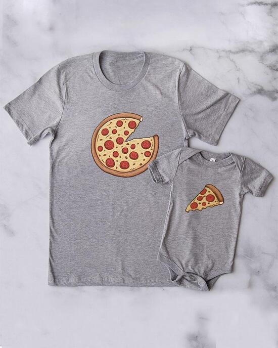 mum / dad pizza shirt