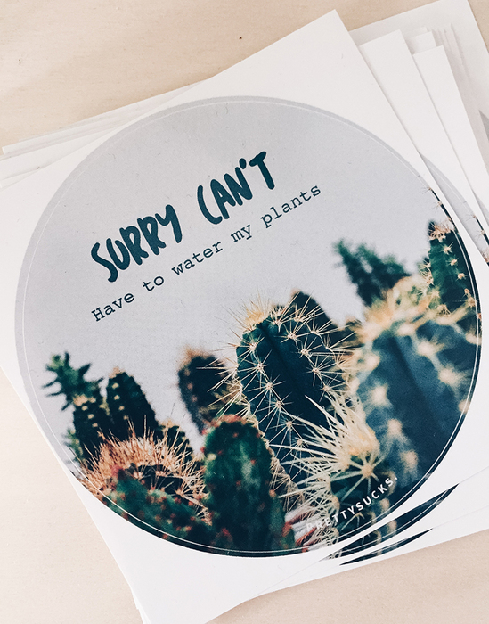 5er Set Plants Sticker