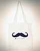 Moustache tote bag 29 small