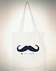 Moustache tote bag 29 small