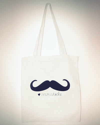Moustache Tote Bag