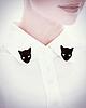 Cat shape collar 6495 small