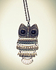 Vintage owl necklace 54 small