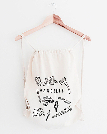 Wanderer Drawstring bag