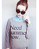 Need summer now sweatshirt 6193 small