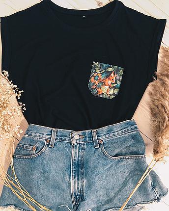 Eichhörnchen-Brusttasche T-Shirt