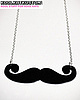 Mustache necklace 42 small
