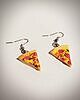 Pizza earrings 6525 small