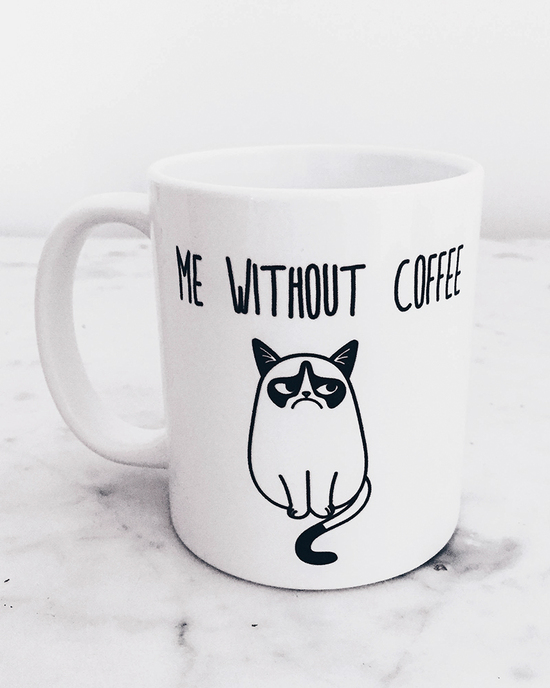 With and without coffee