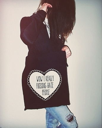 Hate People Totebag