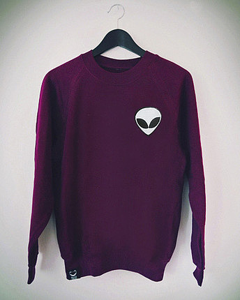 Alien Sweater Bordeaux