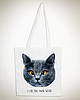 Weird cat tote 6035 small