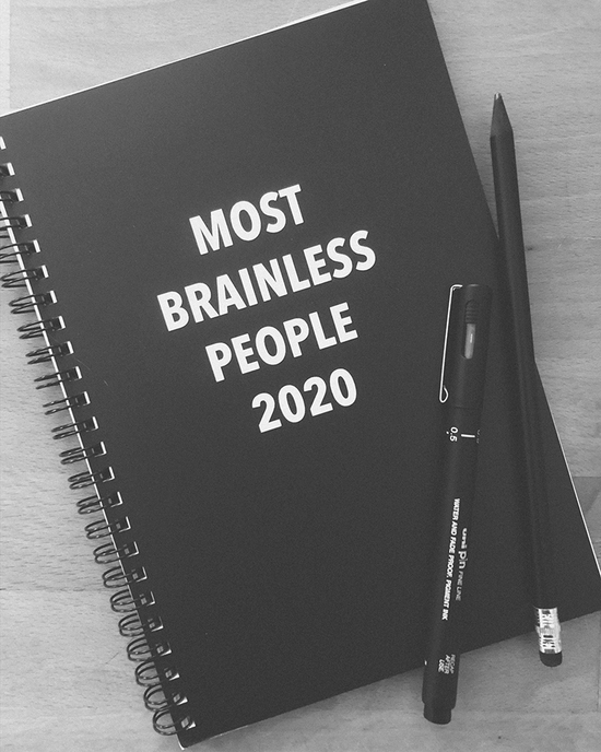 Most brainless people 2020 notepad