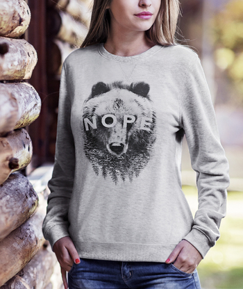 Nope Bear Sweater