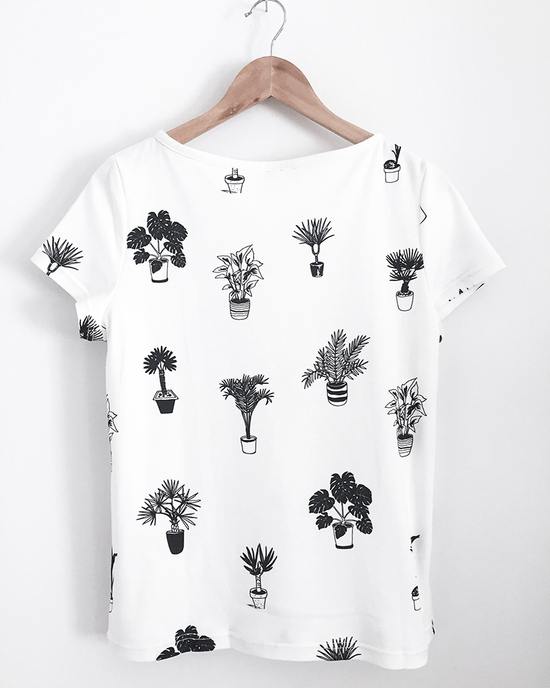 Plants Addict Allover Print Shirt