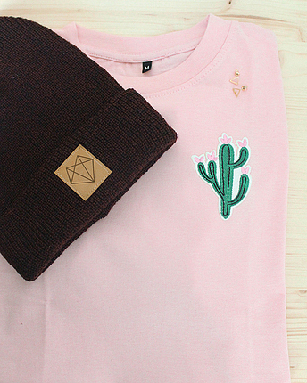 Kaktus T-Shirt in rosa