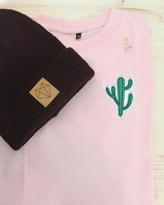Kaktus T-Shirt in rosa