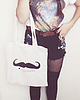 Moustache tote bag 90 small