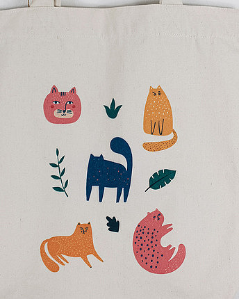 Cats & Plants bag