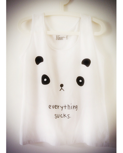 Everything sucks Panda shirt!