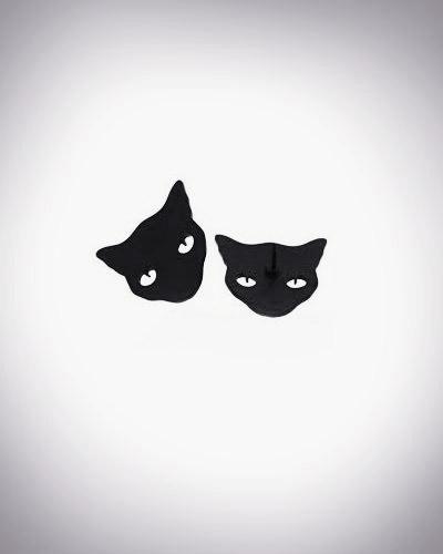 Katzen Kragen-Brosche