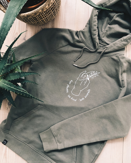 Eat plants - be kind - love animals Hoodie