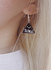 Triangle earrings 38 small