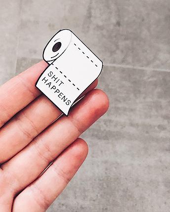 Toilet paper pin