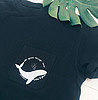 Whale pocket t shirt 836 small