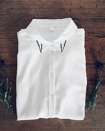 Lavendel Flower Crepe Bluse