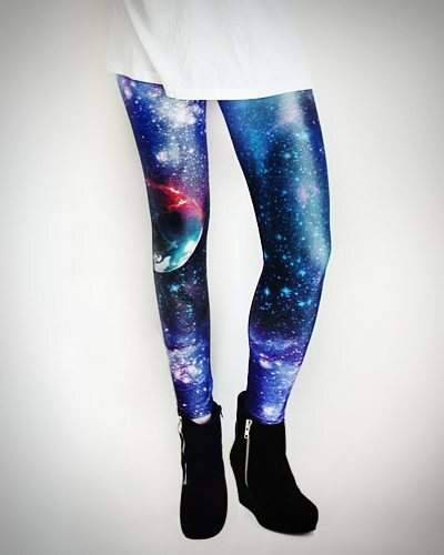 Galaxy Leggings Blau