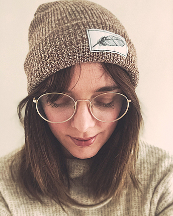 Feather beanie