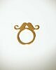 Golden moustache ring 172 small
